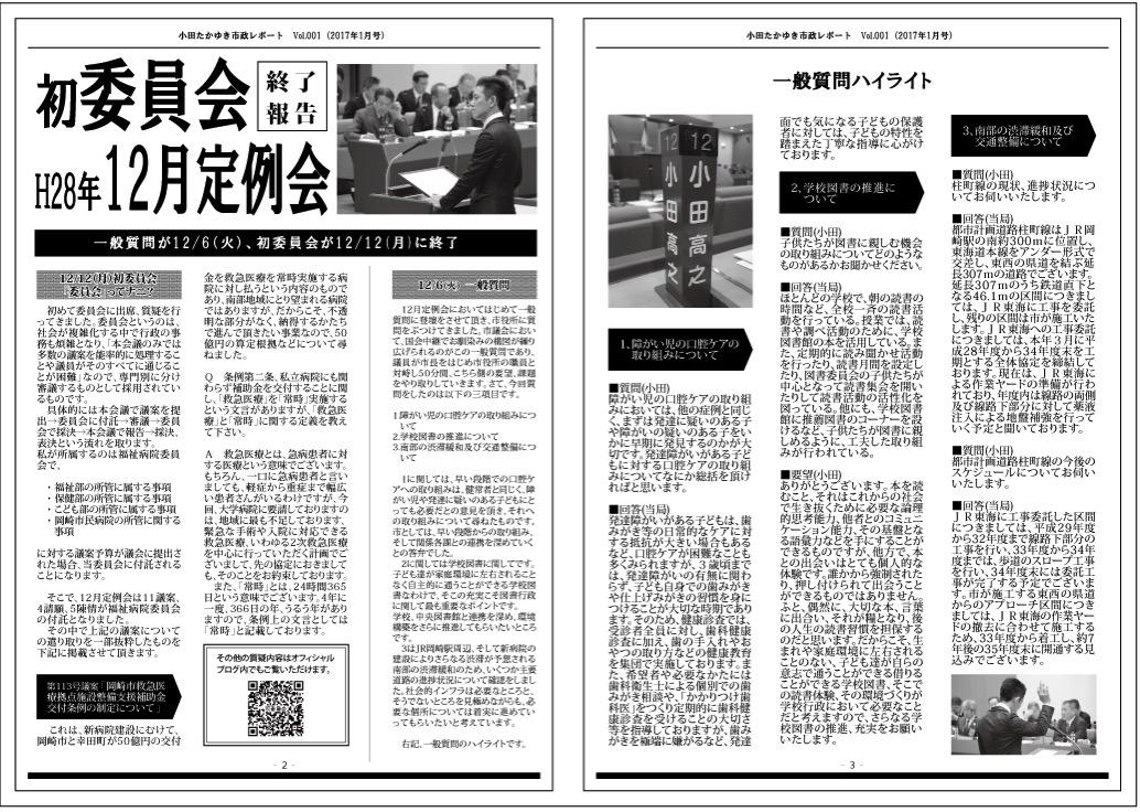 小田たかゆき通信01 ウラ
