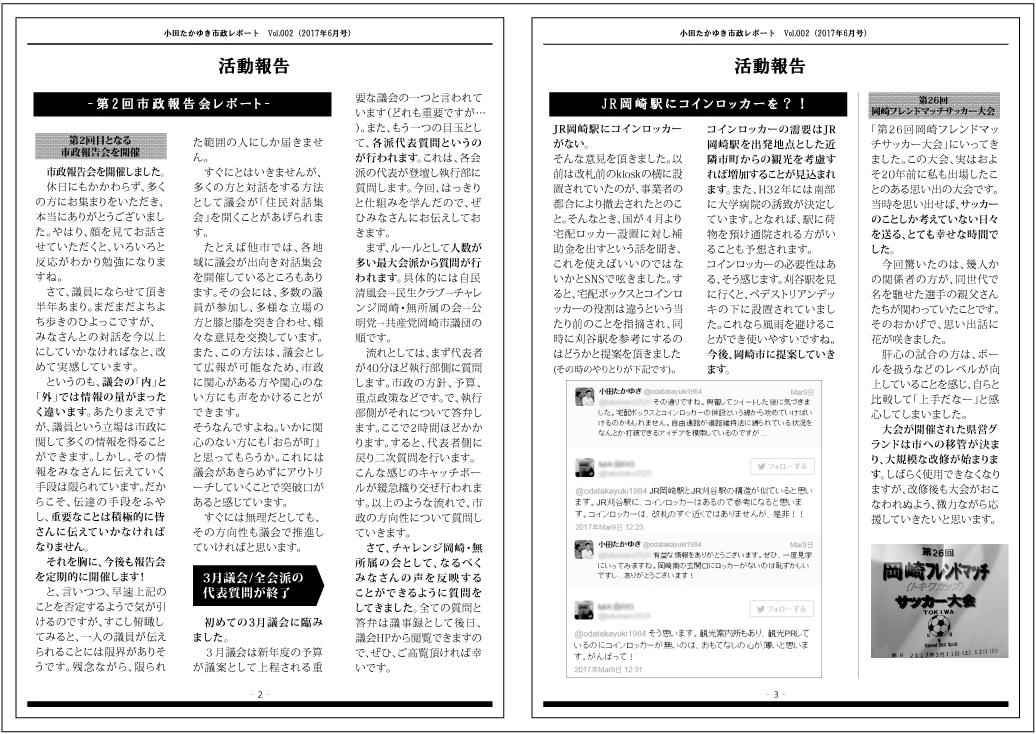 小田たかゆき通信02 ウラ