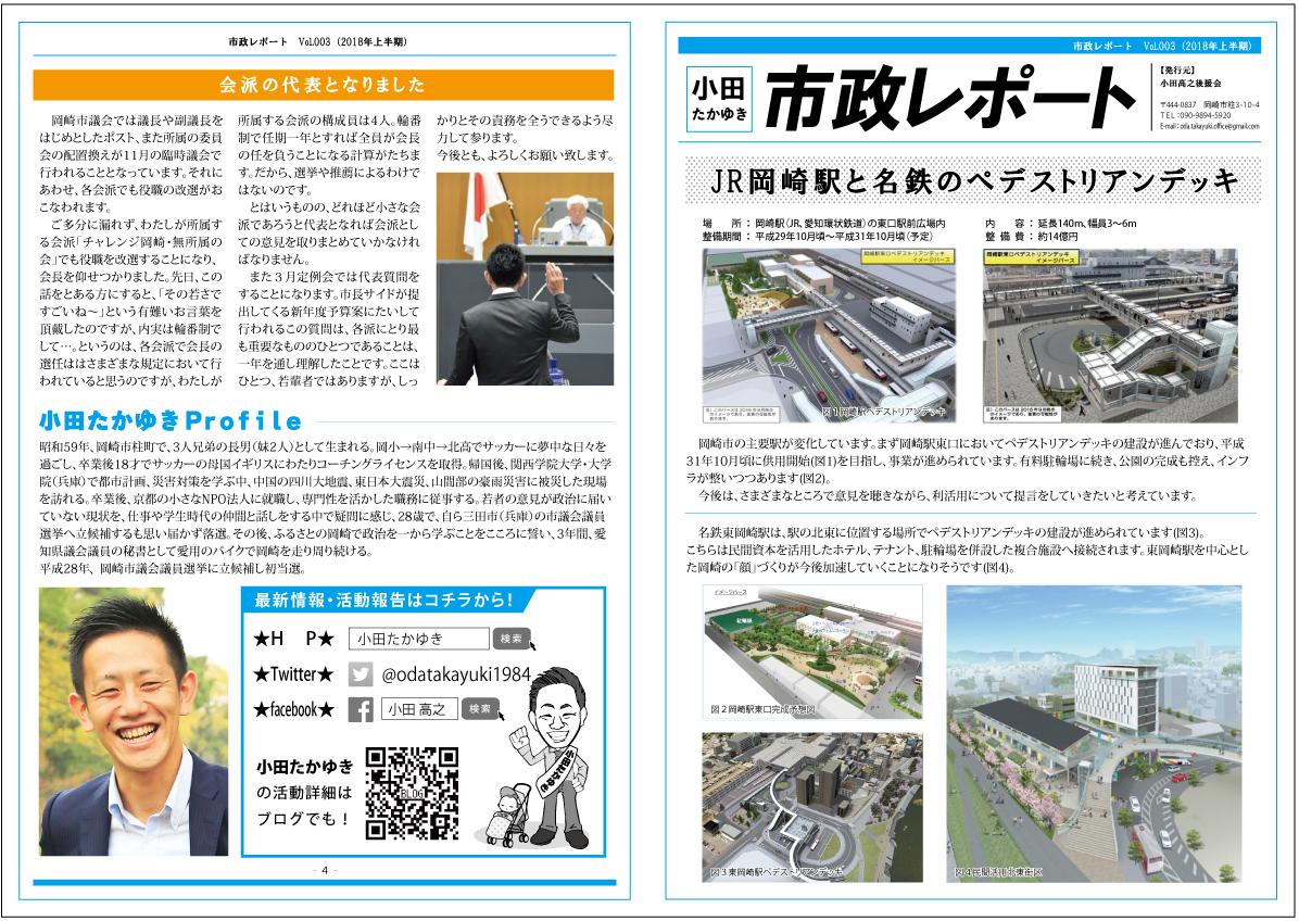 小田たかゆき通信03 表